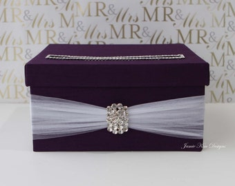Wedding card box, Wedding Money Box (Small Size)  - Custom Made to Order