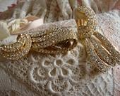Large Wedding Gold Tone Earings