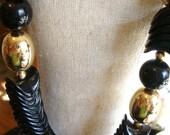 Black Chunky Necklace