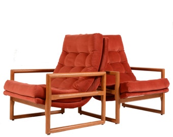 Matching Milo Baughman for Thayer Coggin Scoop Chairs