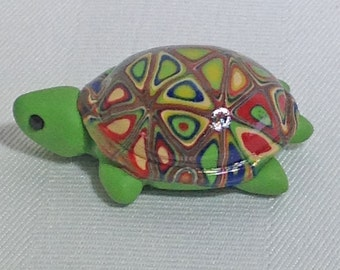 Turtle Art, Polymer Clay Turtle Figurine, Mini Turtle, Polymer Clay Animals, Sea Turtle, Turtle Totem by Classon Creations