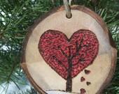 Heart Ornament | ASPEN Wood Slice Ornaments