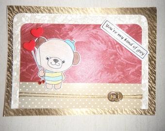 handmade valentine card- VALENTINE handmade card