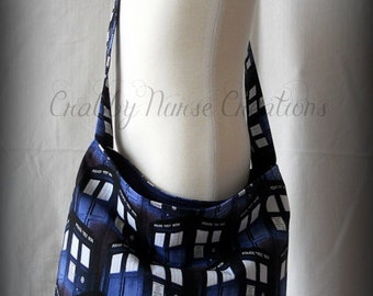 Slouch Purse  Made of Dr. Who fabric