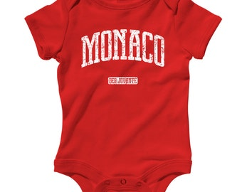 Baby Monaco Romper - Infant One Piece - NB 6m 12m 18m 24m - Monte Carlo Baby - 4 Colors
