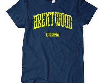 Women's Brentwood Represent Tee - S M L XL 2x - Ladies Brentwood T-shirt - 4 Colors