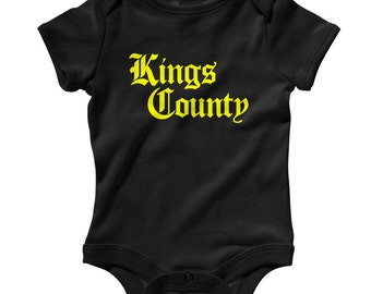 Baby Kings County Gothic Brooklyn Romper - Infant One Piece - NB 6m 12m 18m 24m - Brooklyn Baby - 4 Colors