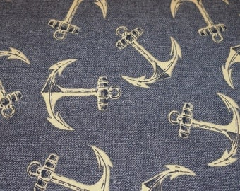 Nautical Anchors Baby toddler fitted sheet nautical ocean blue