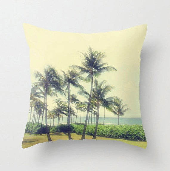 Decorative Pillow Palm Tree : Palm Tree Accent Pillow Tropical Sofa Pillow Coastal Decor