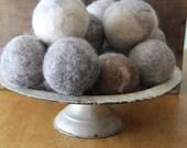 Set of Five 100% Wool Dryer Balls