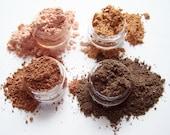 Mineral Eyeshadow Collection - Nudes - Earthtones Shadow Quad - Nude Shadow  - Vegan Eyeshadow -  Earthtone Shadows