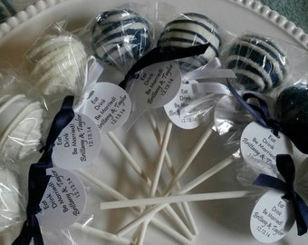 Wedding Favor: Wedding Cake Pops Made to Order, Wedding Dessert Table, Wedding Candy Buffet, Wedding Favors