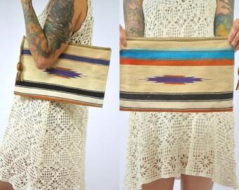 Vintage Chimayo Wool Clutch Purse
