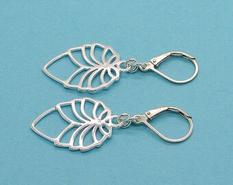 Sterling Silver Lever Back Earrings S04