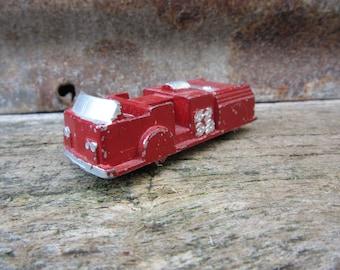 Vintage Metal Toy Truck Chippy Firetruck Fire Truck Fire Engine Old Metal 1950s  Era Old Metal Toys Midge Toy Midgetoy vtg Truck Chippy