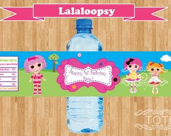 RagDolls/Lalaloopsy  Personalized Water Bottle Labels (Digital File Only)