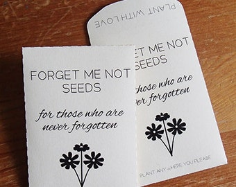 20+ Custom Colour Seed Packet Memorial Wedding Favor Forget Me Not Let Love Grow DIY Plant With Love Wedding Favour Succulent Fill Your Own