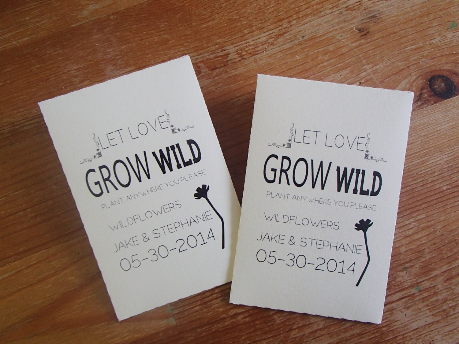 20 Custom Seed Packet Wedding Favor Let Love Grow