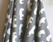 ORGANIC KNIT Fabric Ellie Farm in Shroom from Birch Fabrics - One HALF Yard Cut