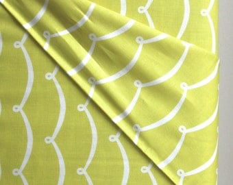New Wave in Citron Fabric by Michael Miller Fabrics - ONE YARD CUT