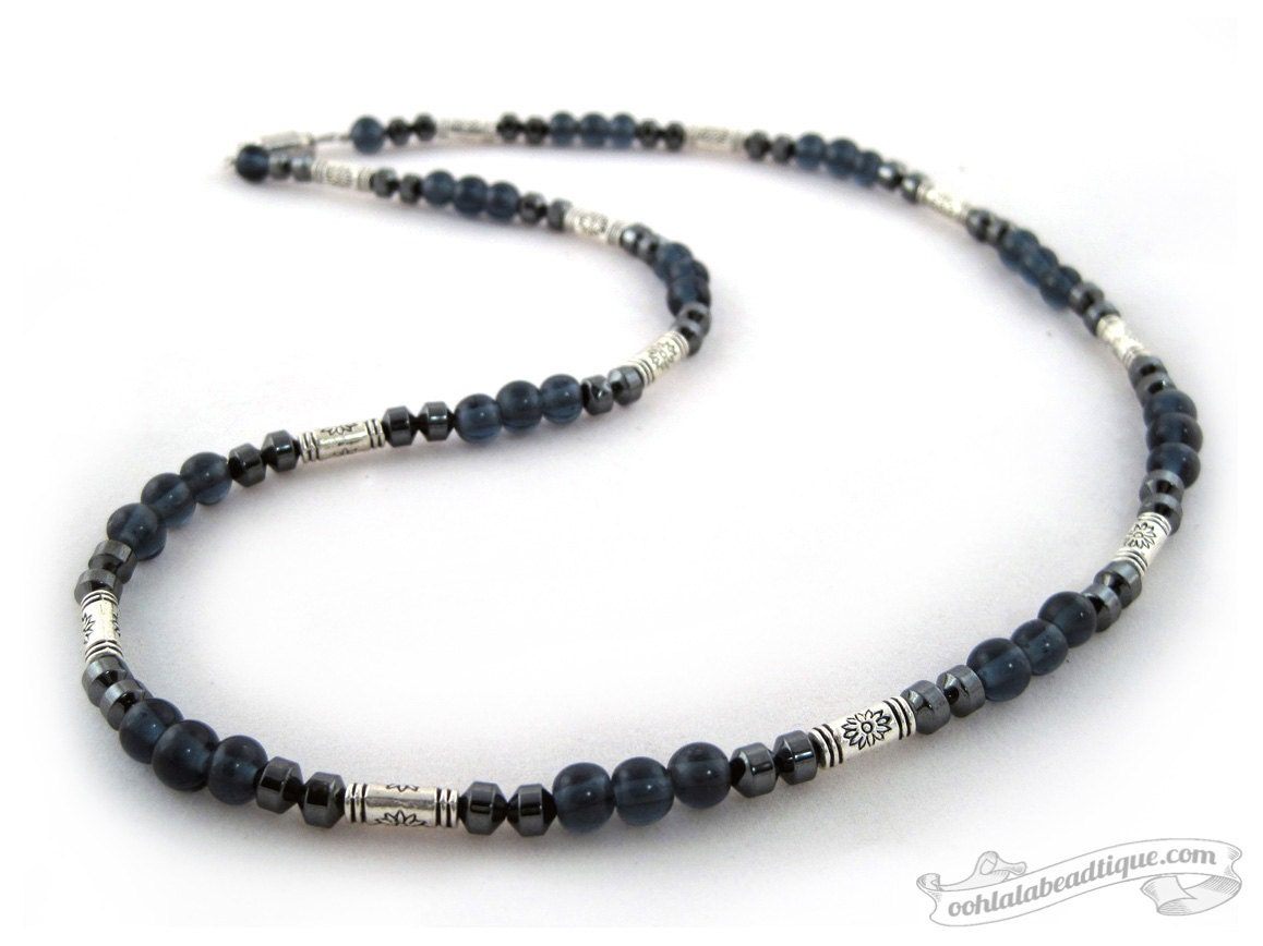 Mens gray necklace modern necklace mens necklace necklaces for Men s jewelry earrings