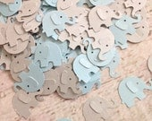 Elephant Baby Shower, Blue and Gray Elephant Baby Shower Confetti, Custom Confetti, Baby Shower Confetti, Boy Baby Shower (100 Count)