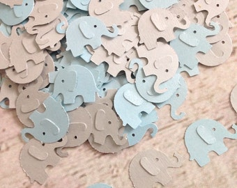 Elephant Confetti, Blue and Gray Elephant Baby Shower Confetti, Gray Elephant Confetti, Elephant Baby Shower Baby Boy