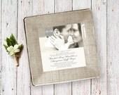 Wedding Invitation Plate - wedding photo invitation - decoupage plate - unique wedding gift - couples keepsake - 1st anniversary gift