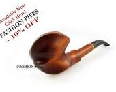 """Wooden Smoking Pipe """"EXPRESSION"""" Carving Handmade Tobacco pipe Hand Carved Pear Wooden Pipe / Pipes Exclusive Design, plus Free GIFT"""