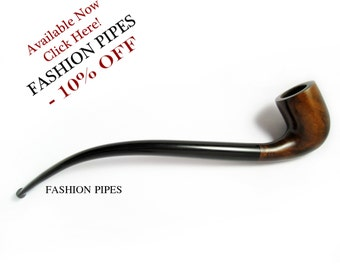 "NEW ""LORD"" Long Tobacco Pipe of Pear Wood Pipe 9.8'' Churchwarden Smoking Pipe Handcrafted. Exclusive Designed for pipe smokers"