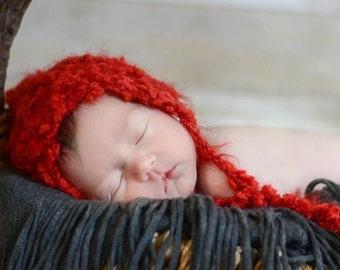 Newborn photo prop valentines bonnet