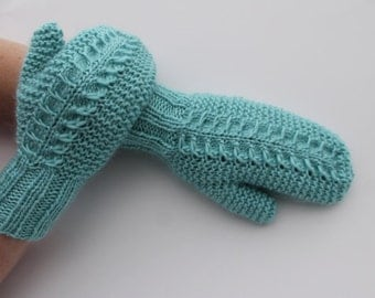 Instant Download Claw Cable Mittens PDF Pattern
