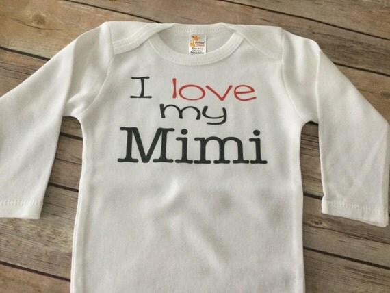 I Love My Mimi One Piece Or T Shirt Custom Text
