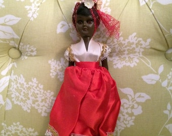 ON SALE Doll of Africa, Dolls From Around the World, Doll in Costume, Dolls of the World