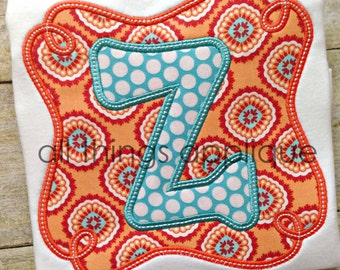 Loop Frame Applique Alphabet - 26 Letters - 4 Sizes - Machine Embroidery Design - INSTANT DOWNLOAD