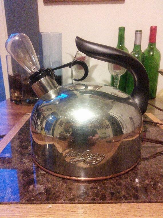 Novelty Tea Kettles ~ Paul revere tea kettle novelty lamp repurposed recycled