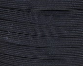 "Black Braided Elastic - 3/8"" (9mm) wide - Ten or Twenty Yards"