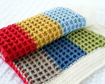 Blanket Pattern, Crochet Pattern, Baby Afghan, Easy Crochet, Baby Nursery, Sofa Crochet Blanket, Beginner Pattern, Unisex Blanket, Newborn