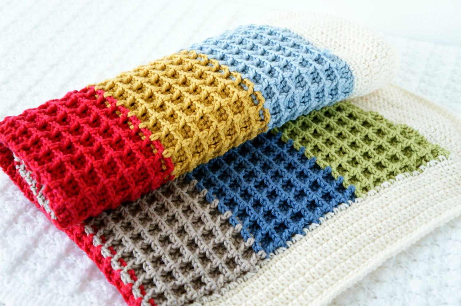 Toddler Blanket Crochet Bedding Newborn Swaddle Receiving