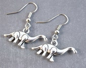 Brontosaurus Earrings - Dinosaur Earring, Animal Jewelry, Dinosaur Jewelry, Paleontology Gifts, School Jewelry, Movie Earrings, Prehistoric