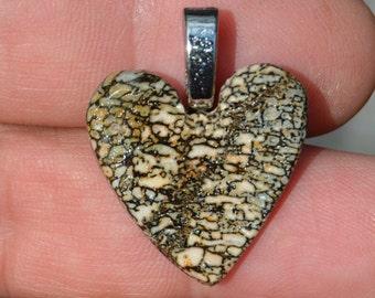 Dinosaur Bone Heart Shape Pendant Prehistoric jewelry DH-30