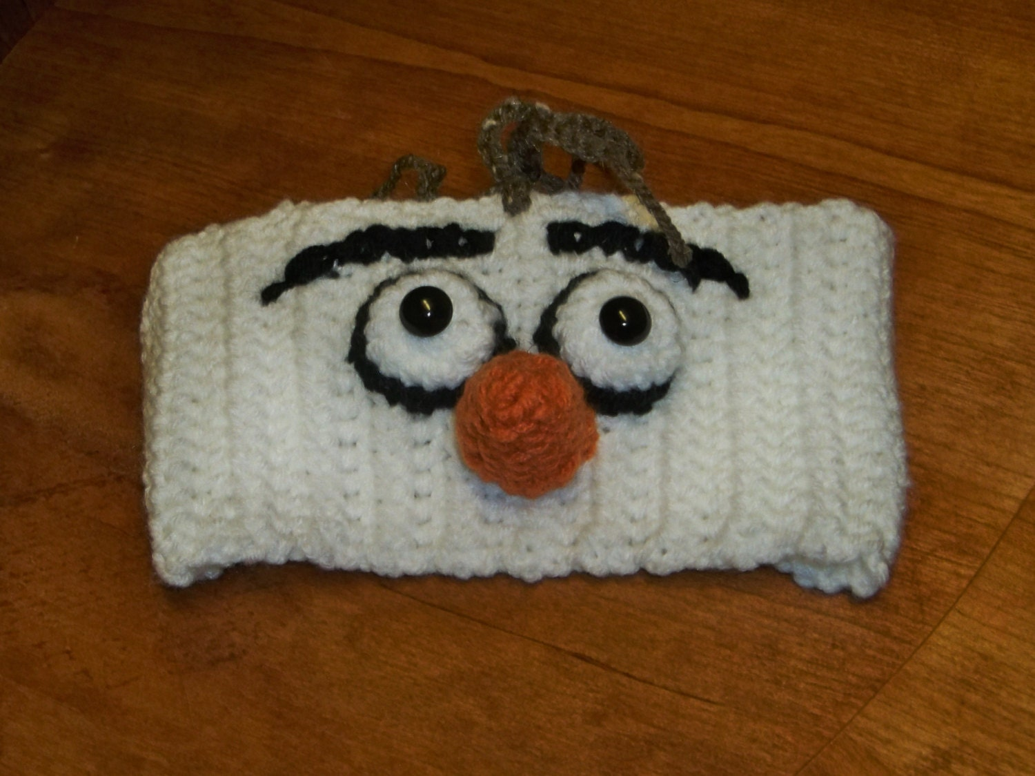Crocheted Olaf the Snowman Headband from Frozen