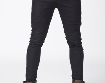 Skinny pants with zipper pocket on the side!! Apocalyptic look!! Mad Maxx!! For a sexy style!!