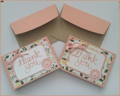 Thank You Cards: Two Matching Blank Cards with Coordinating Envelopes - Peach Blossoms