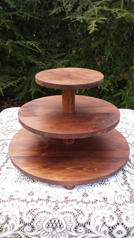 how to make a wood cupcake stand