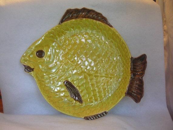 Vintage ceramic fish serving plate platter by clscollectibles for Fish serving platter