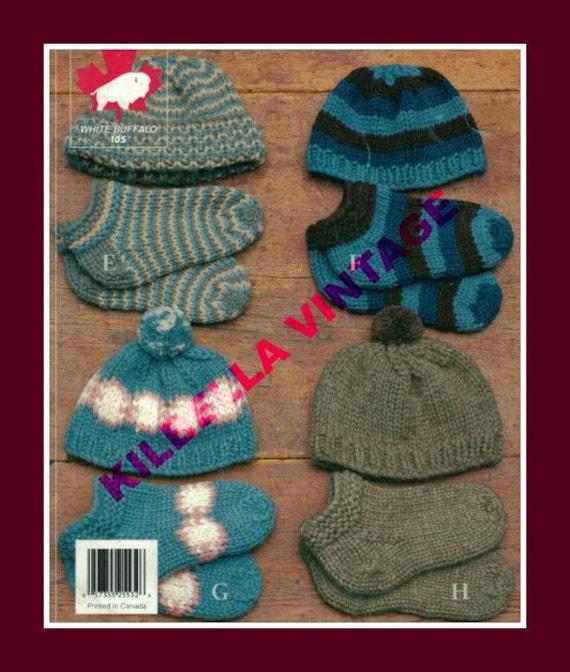 White Buffalo Wool Cowichan Knitting Pattern Hat Toque Slippers Socks Knittin...