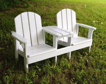 Child's Double Chair & Table: SMALL