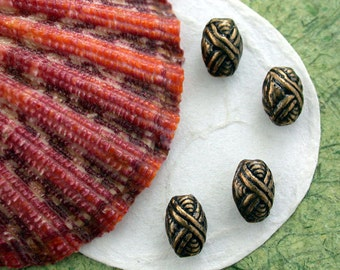 Antique Brass Beads, Brass Ox Beads, Lead Free Pewter Beads, Vintage Reproductions, Made in the USA ~ PB-120AB