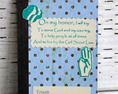 Girl Scout Promise Mini Journal Altered Composition Book